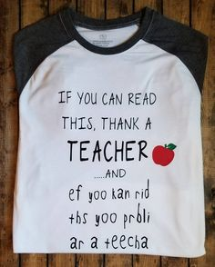 🍎Thank a Teacher🍎 I am pretty sure every teacher and parent can agree with this!!! I say daily that our teachers dont get paid enough!! Raglan and Short Sleeve available The Wall canvas are 11x15 in and come with an attached picture hanger