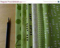 SALE COMMA Lime FQ Bundle - Zen Chic for Moda (6) Pieces