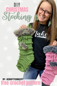 Learn how to make an easy crochet Christmas stocking that's perfect for the holidays and great for selling at holiday markets! Free crochet pattern with video. nach Hause How To Crochet A Jolly Christmas Stocking Free Pattern - Crochet Christmas Stocking Pattern, Holiday Crochet Patterns, Crochet Stocking, Crochet Gifts, Easy Crochet, Crochet Baby, Free Crochet, Crochet Christmas Stockings, Crochet Ornaments