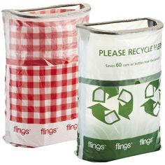 Flings® Pop-Up Trash Bin - for my next BBQ.  Straight into the garbage/recycle can when you are done.