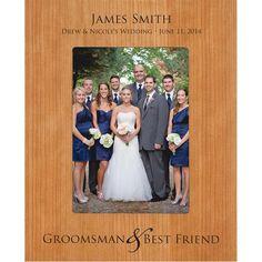 Personalized Groomsmen Photo Frame (5 x 7 Photo)