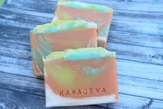 Basil & Nectarine handmade soap KAMADEVA Urban Village, Basil, Bath And Body, Sweet Home, Fragrance, Soap, Fruit, Handmade, Hand Made