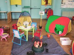 Camping role-play area classroom display photo - Photo gallery - SparkleBox