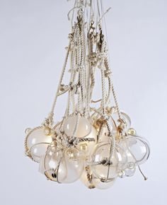Fishing float chandelier? Awesome!