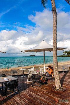 The breakfast view at Hayman Island Resort, Queensland, Australia