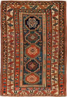 Caucasian Kazak Oriental Rug Size: x Cool Rugs, Persian Carpet, Woven Rug, Soft Furnishings, Rugs On Carpet, Rug Size, Bohemian Rug, Tile Painting, Turkish Carpets