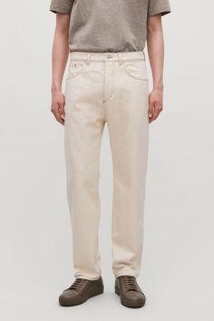 RELAXED LEG JEANS - Ecru / brown - Trousers - COS Men Trousers, New Product, Khaki Pants, Menswear, Man Shop, Pure Products, Legs, Denim, Model