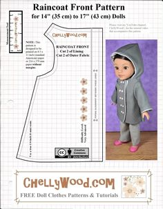 Doll Dress Patterns, Baby Clothes Patterns, Baby Doll Clothes, Crochet Doll Clothes, Sewing Dolls, Clothing Patterns, Ag Dolls, Barbie Clothes, Girl Dolls