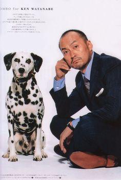 Ken Watanabe and Dalmatian. #hottieswithdogs