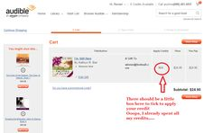Using promotional code to gift an audiobook