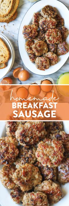 Homemade Breakfast Sausage - Nothing beats homemade! These sausage patties are so so easy to make and they're also freezer-friendly. Win-win!