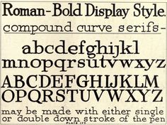 Roman-Bold Display Style #alphabet | Lettering for commercial purposes (1918), William Hugh Gordon