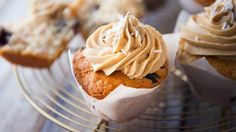 Coconut Muffins with Peanut Butter Frosting recipe - Everyday Gourmet with Justine Schofield