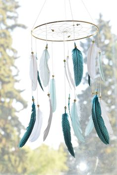 Dream Catcher Mobile Baby Mobile Baby Boy by FeatherDreamcatchers