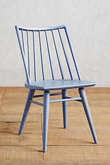 What to do with our Windsor chairs: Paint in 4 pretty colors. Clearie Dining Chair at Anthropologist in natural and 3 colors.