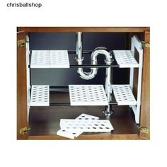 Under Sink Kitchen Storage Unit Organizer Rack Tidy Shelves Tier Removable Shelf