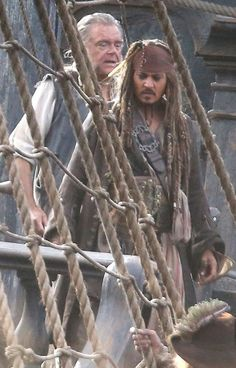 Johnny Depp, Kevin McNally  Pirates of the Caribbean: Dead Men Tell No Tales Still Frame (Behind The Scenes)