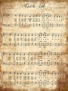 {DESCRIPTION} Digital collage sheet of grungy Christmas sheet music. You get two sheets of music. The actual images are approximately 7 x 9 Christmas Sheet Music, Christmas Paper, Christmas Carol, Christmas Projects, Vintage Christmas, Xmas, Christmas Decoupage, Christmas Post, Christmas Scrapbook