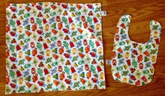 A personal favorite from my Etsy shop https://www.etsy.com/listing/248517768/waterproof-changing-pad-and-bib