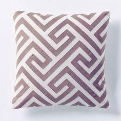 Crewel Key Pillow Cover - Dark Iris   West Elm