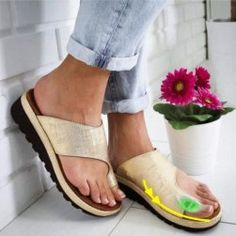 Women Comfy Platform Leater Sandal Shoes Sandals for Bunion Open Toe Sandals Casual Heels, Low Heels, Leather Sandals, Wedge Sandals, Pu Leather, Sandals Platform, Leather Fashion, Platform Wedge, Leather Slippers