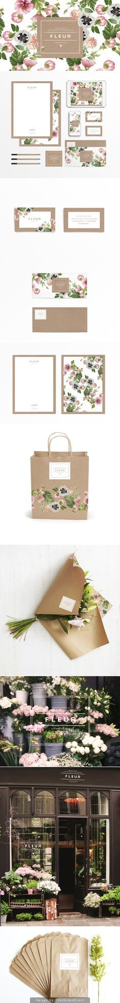 F L E U R flower shop branding designed by Judit Besze