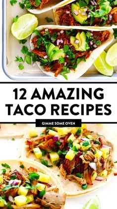 Meat Recipes, Mexican Food Recipes, Dinner Recipes, Cooking Recipes, Healthy Recipes, Baked Fish Tacos, Sweet Potato Tacos, Breakfast Tacos, Cinco De Mayo