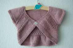 shrug patterns to knit | Entrechat Baby and Child Shrug PDF knitting pattern by frogginette