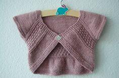 shrug patterns to knit | Entrechat Baby and Child Shrug PDF knitting pattern by frogginette