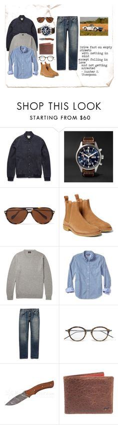 """""""Chelsea Boots - Weekend Drive"""" by maninaustin ❤ liked on Polyvore featuring Oliver Spencer, Oliver Peoples, Bottega Veneta, J.Crew, Banana Republic, Nudie Jeans Co., Thom Browne, BMW, men's fashion and menswear"""