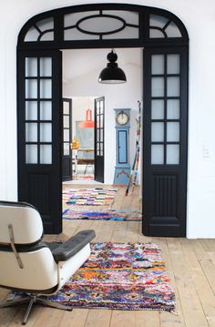 black doors / boucherouite rug