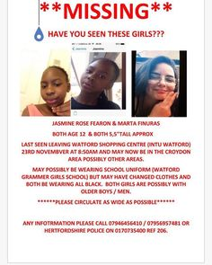 Hi all please share my friends daughter has gone missing.... Maybe in the Croydon area. Any help will be appreciated. Thanks #missingchildren