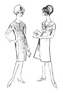1960s fashion coloring pages