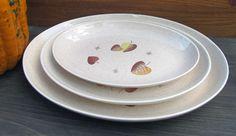 Metlox Vernonware Vernon SHERWOOD 3 Serving platters oval 9.5 11 13.5 inches SET #MetloxPoppytrailVernonware