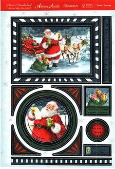 ... Wonderland die cut toppers & card - Santa's Journey, sleigh, reindeer