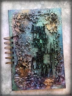Hello crafty friends!     Today I would like to show you a mixed media notebook I created from scratch for Dusty Attic . It is meant to be...
