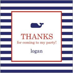 Little Blue Whale Gift Sticker - Set of 24 Party Invitations, Party Favors, Whale Party, Birthday Gifts, Happy Birthday, Green Accents, I Party, Hostess Gifts, Party Themes