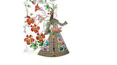 Rainha Isabel de Portugal - desenho e colagem digital