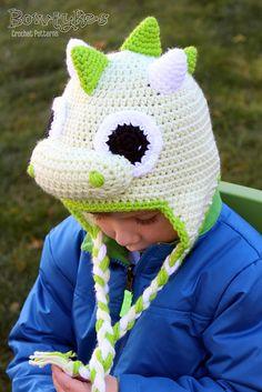 Ravelry: Dragon Earflap Hat pattern by Briana Olsen #crochet #dragon #Bowtykes