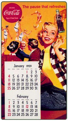 Coca Cola Calendar ........ #coke ....... #coca-cola