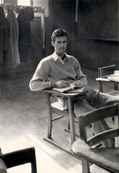 Bob Gallagher as college student