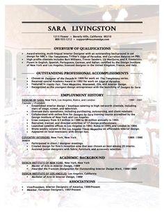 Resume on pinterest resume templates free resume and resume for Creative interior design resume