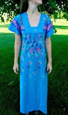 LIPSY jersey summer bright blue floral bold  Hawaii cruise hoilday maxi dress