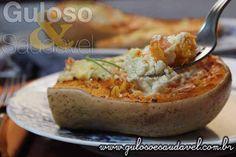 BomDia! Esta Abóbora Assada Recheada tem tudo que amam, é um #almoço prático, fácil, com baixas calorias e, claro, é uma delícia!  #Receita aqui: http://www.gulosoesaudavel.com.br/2014/11/18/abobora-assada-recheada/
