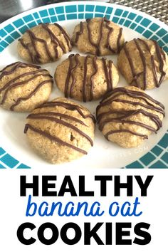 These banana oat cookies are easy to make and taste amazing.  Plus, this low calorie cookie recipe is just 48 calories per cookie!