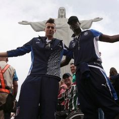 Italian soccer players visiting Rio just before the beginning of FIFA's 2013 Confederations Cup.