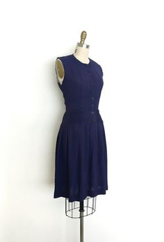 vintage 1930s dress 30s ruffle pocket dress