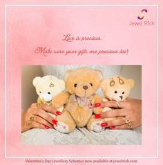 Love is precious. Make sure the gifts are precious too! Happy #Valentine's Day Valentine's Day #JewellerySchemes now available at jewelrich.com