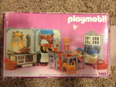 1989 Vintage Playmobil Victorian Mansion Kitchen 5322