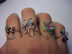 Wire rings by MissyLiss